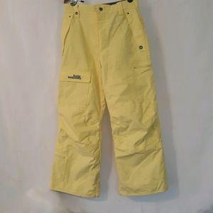 Burton Girls yellow cargo snow pants